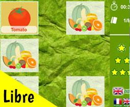 Fruits & vegetables memory game |